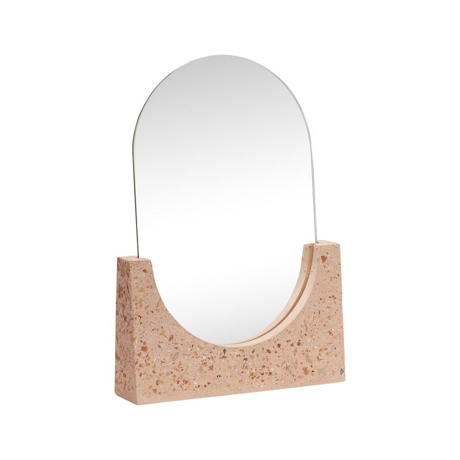 Miroir de table terrazzo rose
