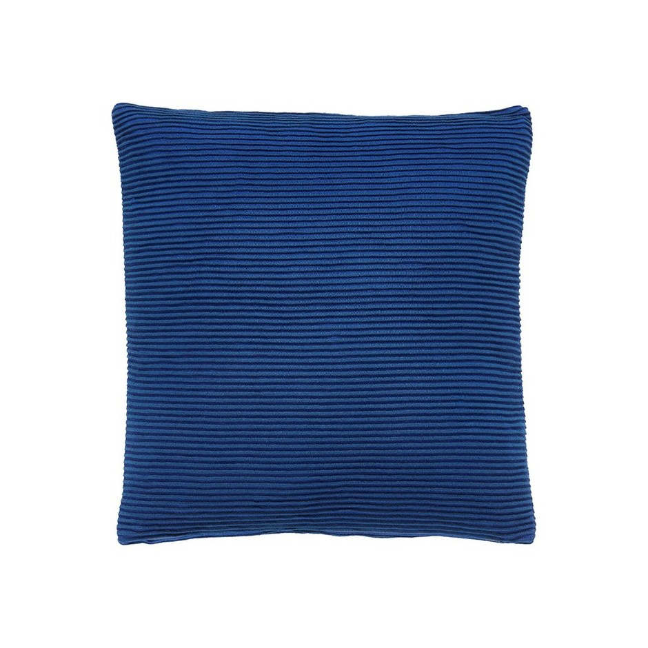 Coussin coton bleu roi