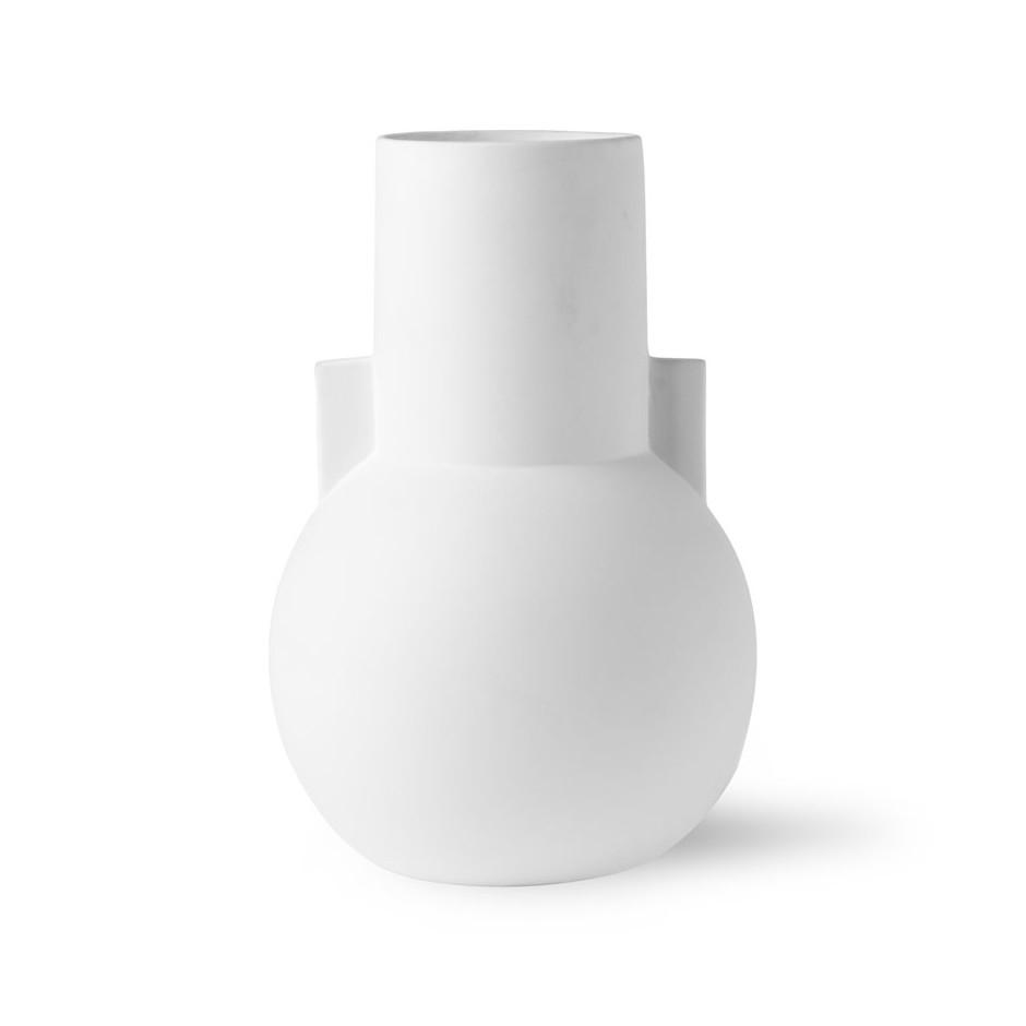 Vase original blanc mat