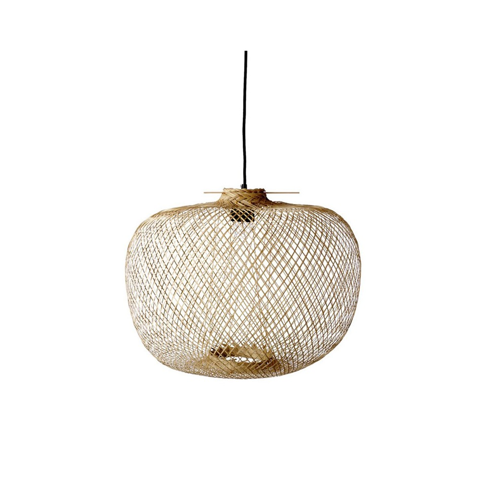 LAMPE BOULE TRESSÉE EN BAMBOU