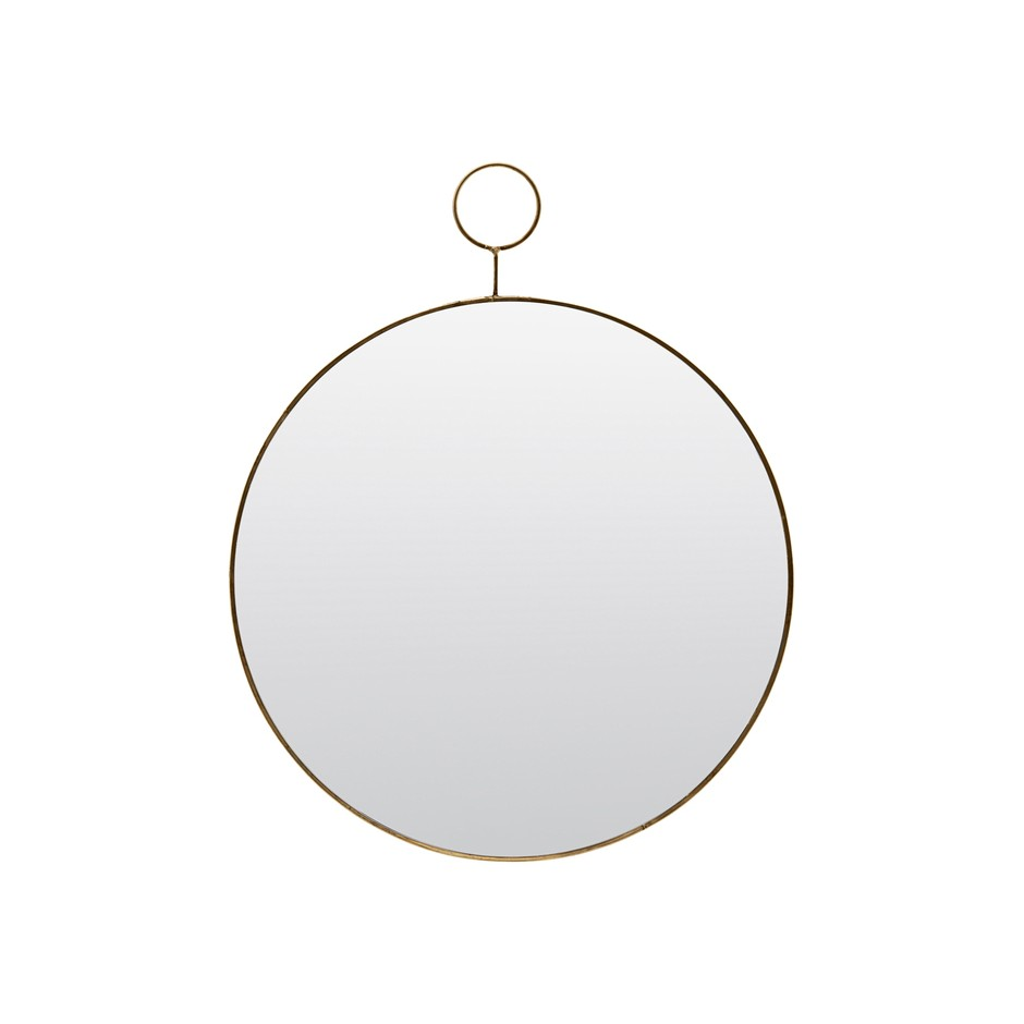 MIROIR ROND THE LOOP EN LAITON 38CM