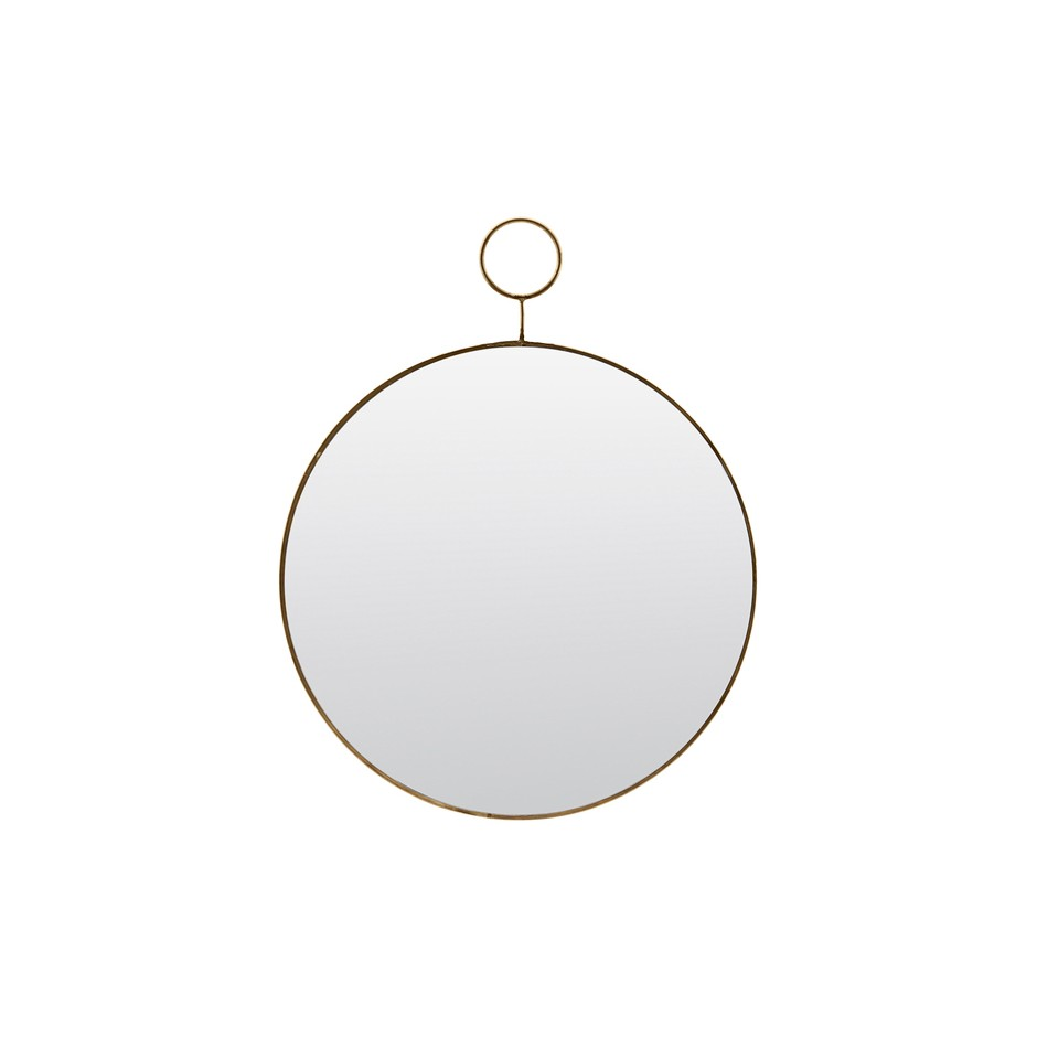MIROIR ROND THE LOOP EN LAITON 32CM