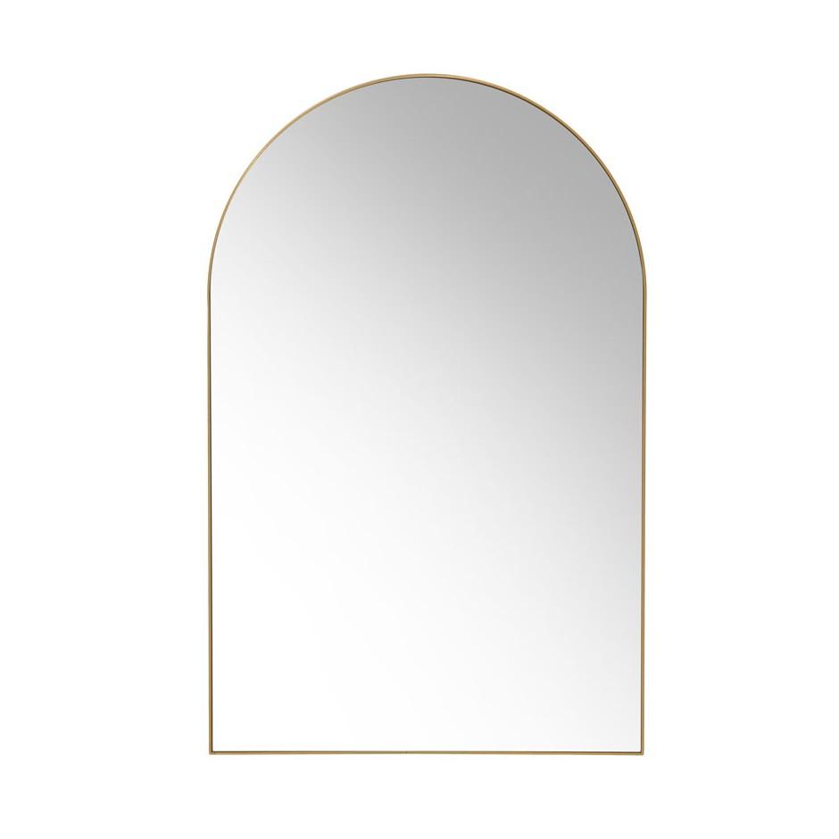 Miroir arche contour laiton