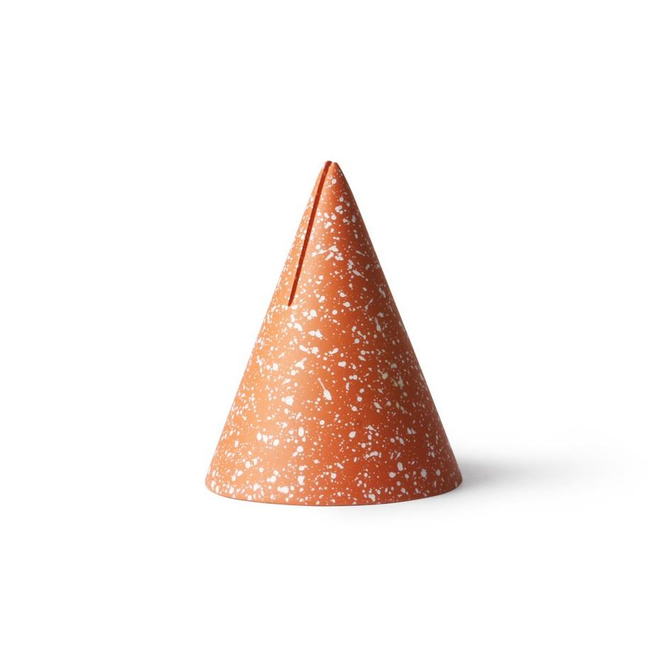 Porte-photo triangle terrazzo orange