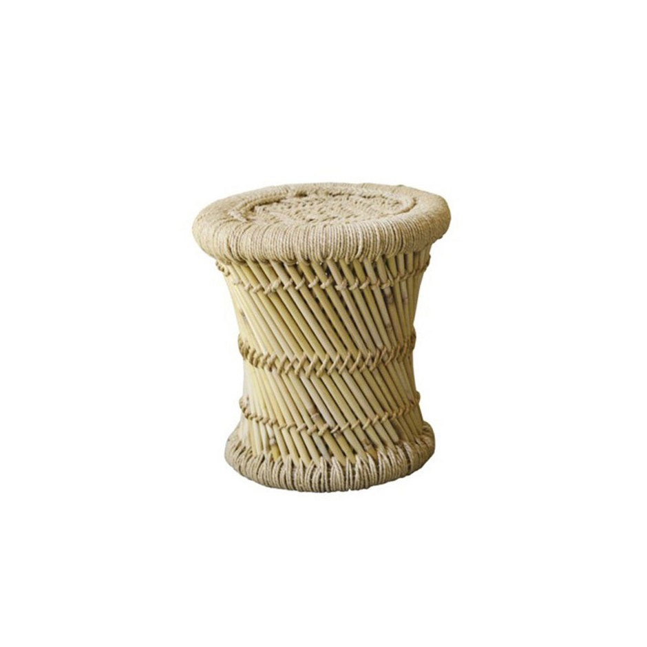 TABOURET BAMBOU TAILLE S