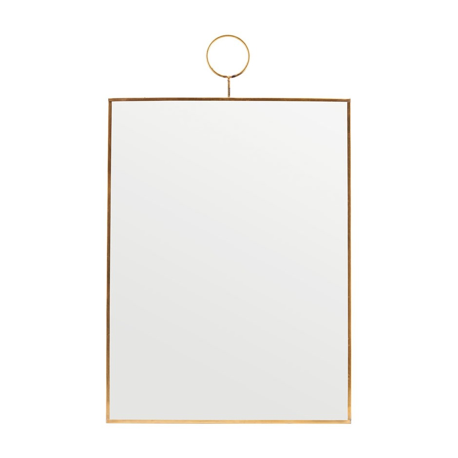 Miroir rectangulaire contour laiton