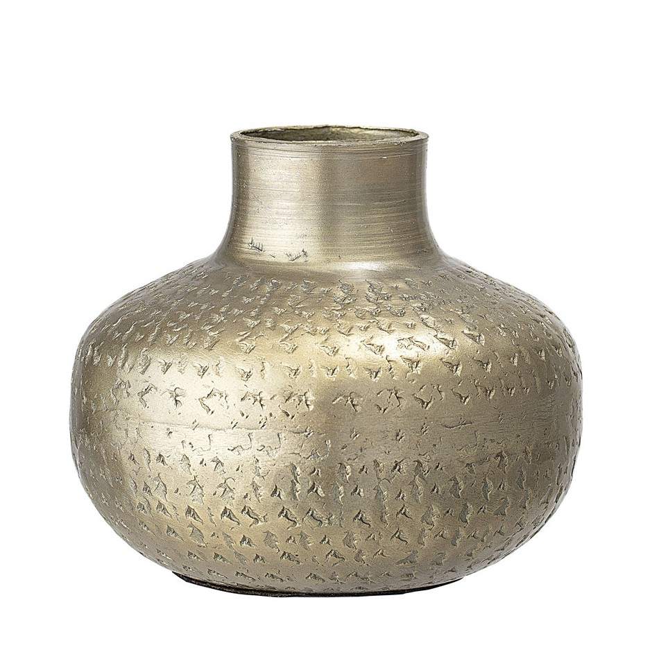 Vase bas laiton poinçonné