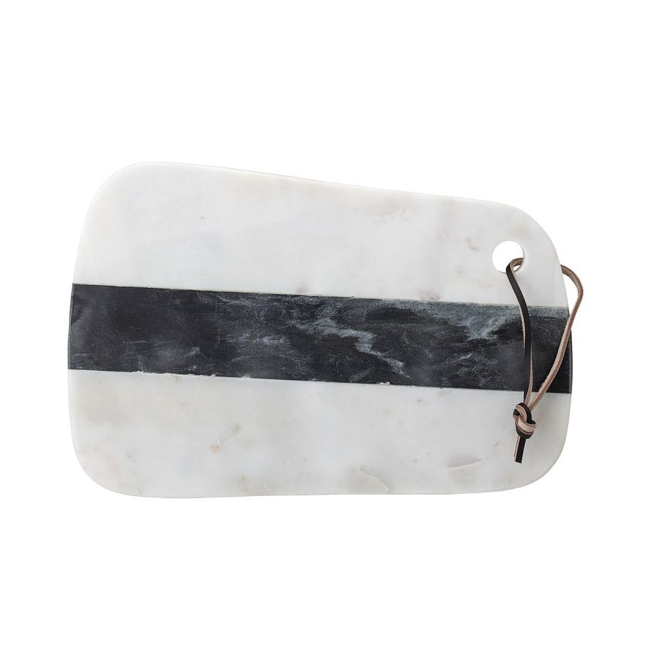 Planche en marbre, blanche et noire